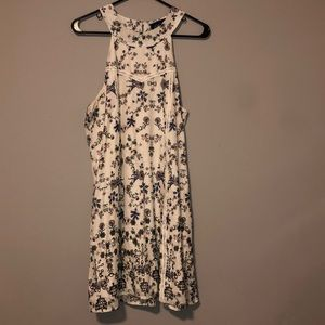 White and flowers sundress
